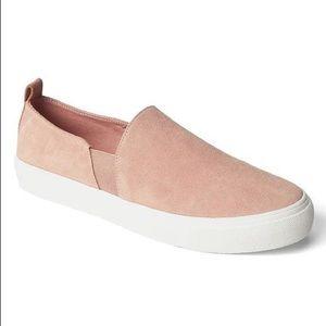 Pale Pink Slip-On Sneakers